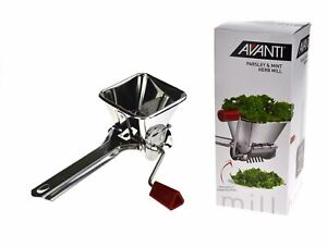 NEW PARSLEY HERB CUTTER Mint Chopper Chop Mill Mincer Grinder Stainless Steel