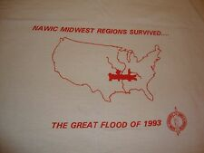 Vintage National Association Of Women in Construction Flood of 1993 T Shirt XL