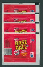 1982 FLEER BASEBALL WAX PACK WRAPPERS / LOT OF 4