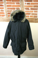 Mens Black Army Parka Hooded Jacket CS Issue Approved Quality Clothing XL