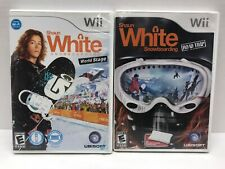 Shaun White Snowboard World Stage/Road Trip Wii Game Lot Complete With Manual