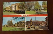 Rugby England 4 view Postcard