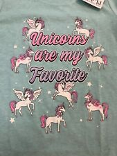 The Children's Place Unicorns Are My Favorite 5T Short Sleeve Shirt-Nwt