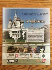 Sid Meiers Civilization IV (4) PC 2005 Vintage Game Poster Ad Art 2K Games Rare