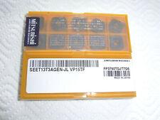 NEU 10 Mitsubishi SEET13T3AGEN-JL VP15TF Wendeplatten mit Rechnung