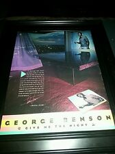 George Benson Give Me The Night Rare Original Promo Poster Ad Framed!