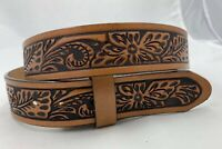 New Tony Lama Tooled Leather Belt  Made in The USA Sizes 34, 38, 40  C42454