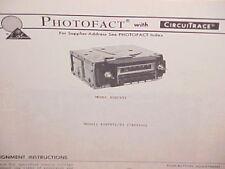 1978 BUICK CHEVROLET OLDSMOBILE PONTIAC FIREBIRD 8-TRACK/AM RADIO SERVICE MANUAL