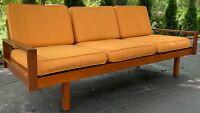 Vintage 50s Sofa Couch Borenstein Brown Saltman Danish Mid Century Modern