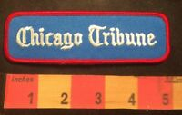 Vtg Embroidered Twill Newspaper Media CHICAGO TRIBUNE Advertising Patch 00HH