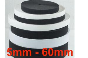 Gummiband, Gummilitze, Wäschegummi, Hosengummi, ca. 5-60 mm, weiß u. schwarz