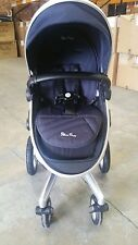SILVER CROSS SURF 2 PUSHCHAIR USED GOOD CONDITION NAVY BLUE STROLLER PUSHCHAIR