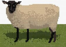 "Black Faced Sheep - Scottish Animal Mini Cross Stitch Kit 7"" x 5"" - 14 Count"