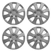 "NEW 14"" Car Wheel Trims Hub Caps Plastic Covers Set 4 Silver Universal New York"