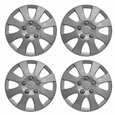 "14"" Universal Wheel Trim Hub Caps Car Van Trailer 4 set Silver Plastic New York"