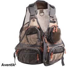 Aventik Super Light Mesh Fabric Fly Fishing Vest,Fishing Mesh Vest Wading NEW