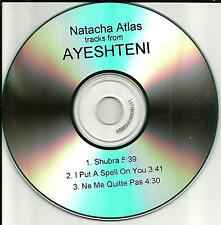 Bellydance NATACHA ATLAS 3TRK sampler w/ ENHANCED VIDEO PROMO DJ CD single 2001