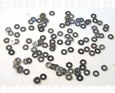Miniature Hardware Parts Pack of 100 Small #2 Steel Flat Washers -2-56 Size-