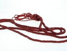 Antique Art Deco Red Czech Glass Bead 27inch Flapper Necklace