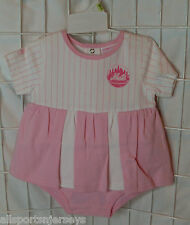 NWT MLB NEW YORK METS PINK ONESIE W/ ATTACHED SKIRT - 18M