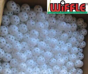 24 WIFFLE® Golf Balls Plastic Practice Poly Golf Balls White Bulk