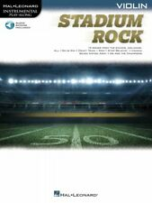 Stadium Rock for Violin Instrumental Play-Along Book and Audio New 000323887