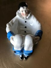 Rare Art Deco 1920'S Pierrot Sitzendorf Powder Dish