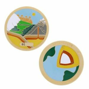 Earthcache Geocoin - Unactivated Trackable for Geocaching