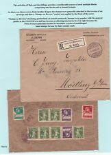More details for two pages. a study of stamps/covers re stamp dealers szekula family. (lot b)