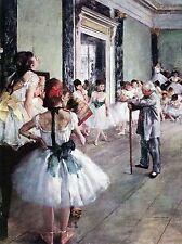 PAINTING DEGAS DANCE CLASS ART PRINT PICTURE 709OMLV