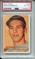1957 Topps Baseball #328 Brooks Robinson Rookie Card RC Graded PSA EX MINT 6