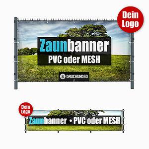 Zaunbanner PVC Mesh Wunschdruck Gitterzaun Maschendraht Gartenzaun Sichtschutz