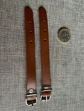 Tan Real Leather 2 Picnic Utility Straps Hand Made strap 12mm wide 6 inch A11