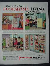 1959 Kelvinator Foodarama Living Refrigerator Appliance Vintage Print Ad 12313