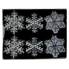 Premier Decoración de Navidad de 6 Pack Inastillable claro copos de nieve