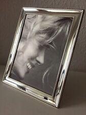 Massiv Sterling Silber 925 Bilderrahmen 13x18 Silberrahmen Fotorahmen Perle NEU
