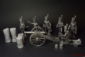 Tin soldiers Set Guards artillery. France 1812 54mm