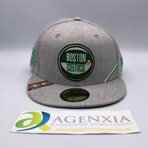 New Era 59FIFTY Boston Celtics NBA Draft 2019 Cap Hat Grey Men Size 7 5/8 NWT