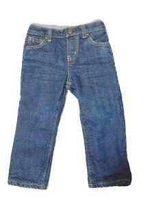 Oshkosh Boys 24 Month Fleece Lined Blue Jeans Baby Denim Pull On Pants