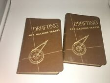 Lot of 2 Drafting For Machine Trades American Technical Society 1943 Book 2 & 4