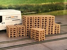 3D PRINTED REAL WOODEN PALLET STACKS OO GAUGE 1:76 SCALE MODEL RAILWAY AX065-OO