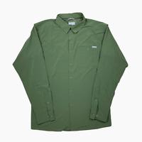 Columbia Triple Canyon Solid Long Sleeve Shirt Mens XL XLT Tall BNWT Green New