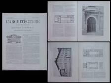 L'ARCHITECTURE N°29 1901-PARIS, ECOLE COLONIALE, 2 AVENUE DE L'OBSERVATOIRE,YVON