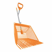 "ErgieSystems Steel Shaft Muck Scoop with Auto Sifting Fork Basket | 54"" Steel"