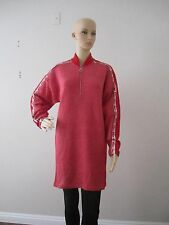 NWT LACOSTE WOMENS RED PURE WOOL SWEATER DRESS SIZE: 8 (40) MADE IN ITALY