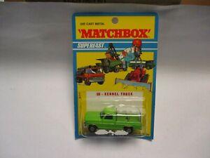 Matchbox Lesney Superfast SF50 Kennel Truck- APPLE GREEN, blistercard