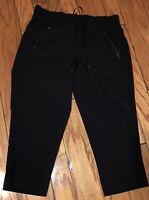 NEW C9 Champion M Black Parachute Cropped Pants Stretch Pockets Drawstring