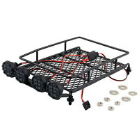 Roof Rack with LED Lights Spotlight for 1/10 TRAXXAS TAMIYA CC01 AXIAL SCX10 Car