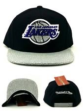 Los Angeles Lakers LA New Mitchell & Ness Iridescent Black Era Snapback Hat Cap