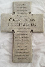 Wall Hanging Cross Christ Jesus Religious Great Is Thy Faithfulness phrase